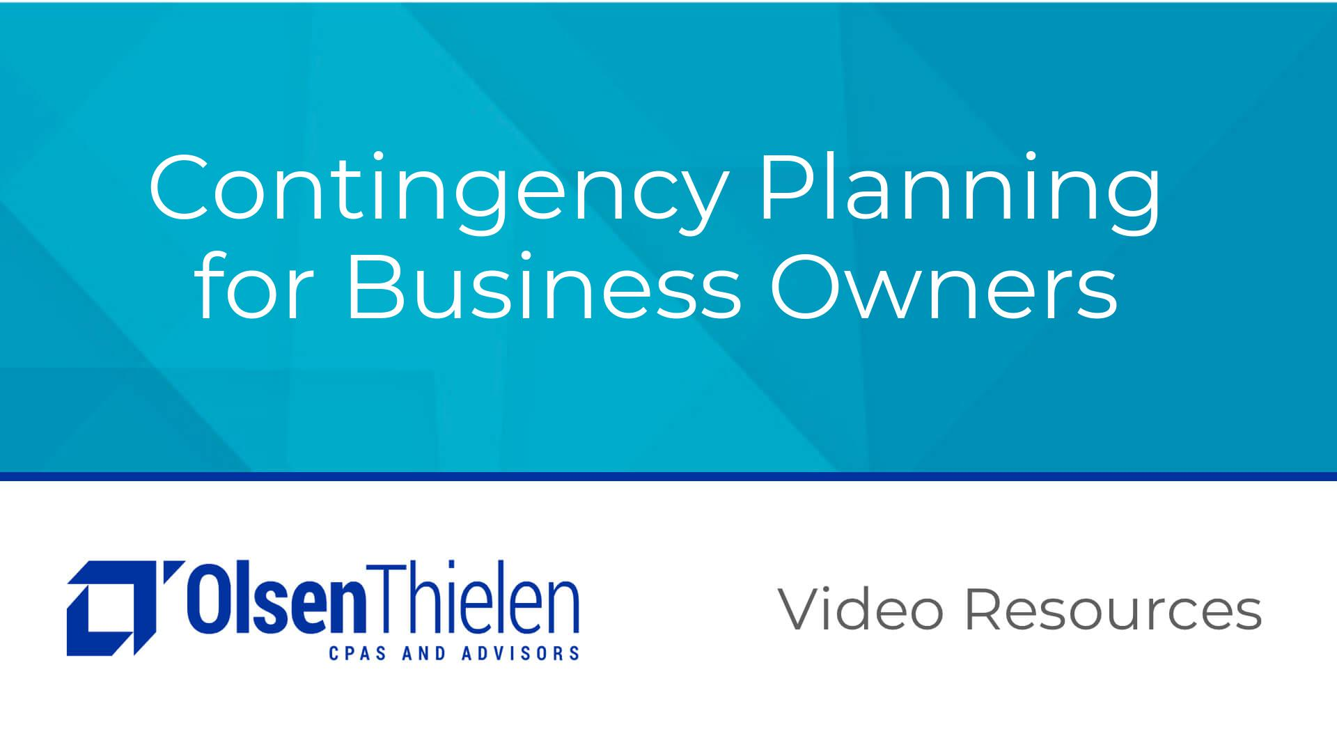 Contingency Planning for Business Owners