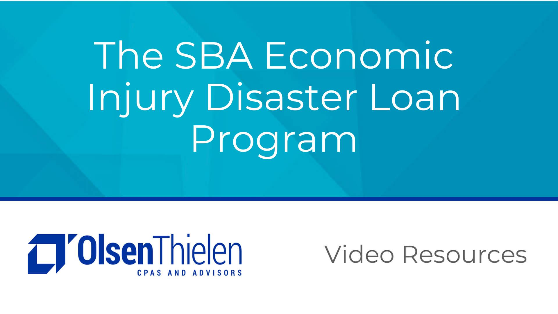 SBA Economic Injury Disaster Loan Program